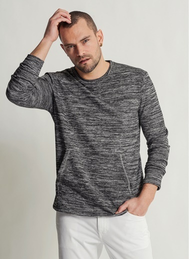 People By Fabrika Sweatshirt Gri